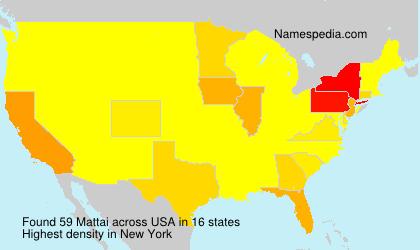 Surname Mattai in USA