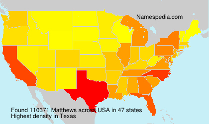 Surname Matthews in USA