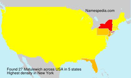 Familiennamen Matulewich - USA