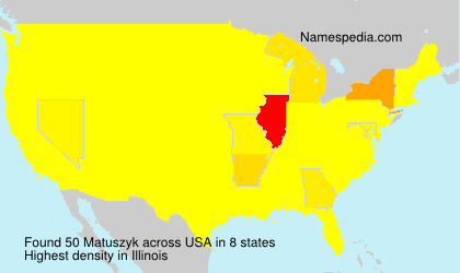 Surname Matuszyk in USA