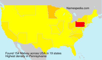 Surname Matvey in USA