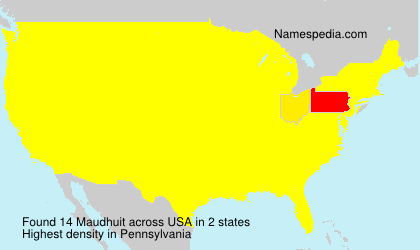 Surname Maudhuit in USA
