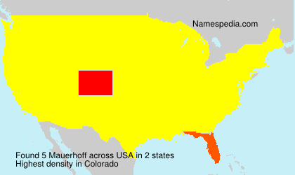 Surname Mauerhoff in USA