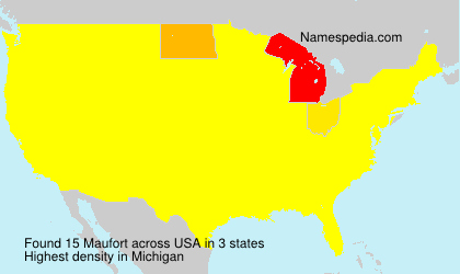 Surname Maufort in USA