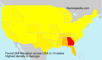 Surname Maughon in USA
