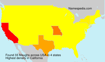 Surname Maughs in USA
