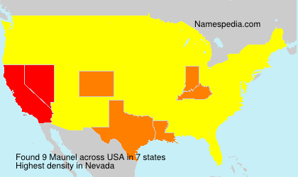 Surname Maunel in USA