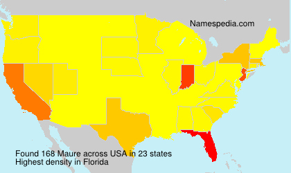 Surname Maure in USA