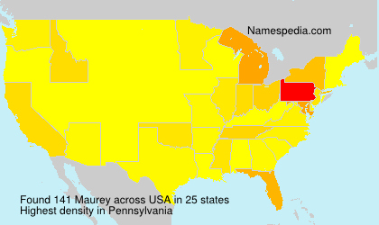 Surname Maurey in USA
