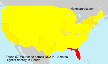Surname Mauricette in USA