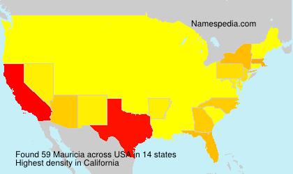 Familiennamen Mauricia - USA
