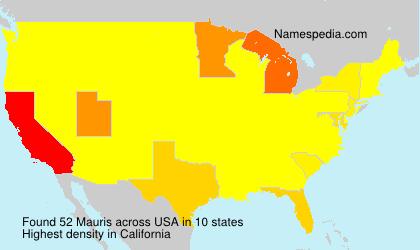 Familiennamen Mauris - USA