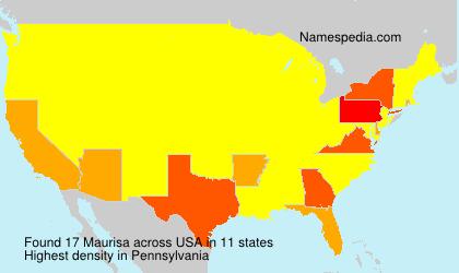 Familiennamen Maurisa - USA