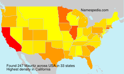 Surname Mauritz in USA