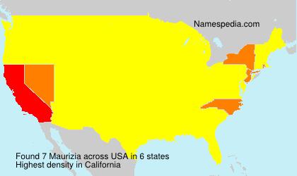 Familiennamen Maurizia - USA