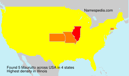 Surname Maurutto in USA