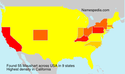 Surname Maushart in USA