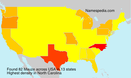 Surname Mauze in USA