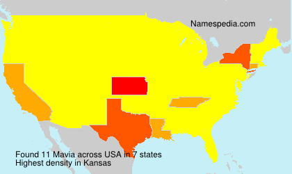 Surname Mavia in USA