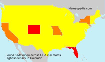 Familiennamen Mavridou - USA