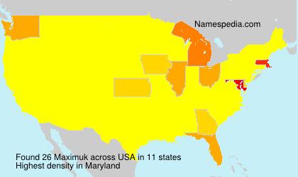 Familiennamen Maximuk - USA