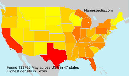 Surname May in USA