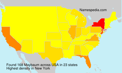 Surname Maybaum in USA