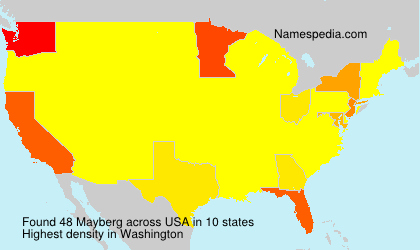 Surname Mayberg in USA