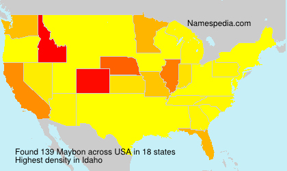 Surname Maybon in USA