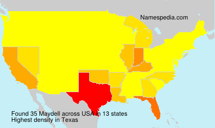 Surname Maydell in USA