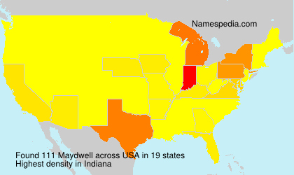 Surname Maydwell in USA