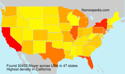Surname Mayer in USA