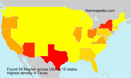 Surname Mayfair in USA