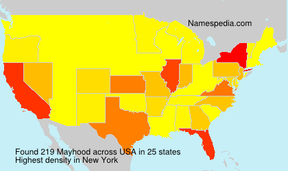 Surname Mayhood in USA