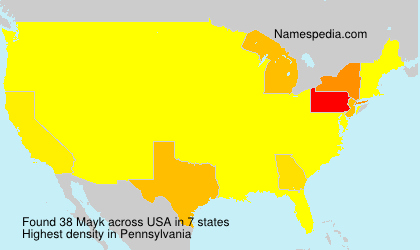 Surname Mayk in USA