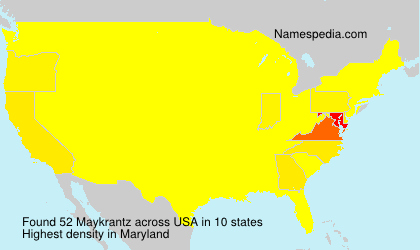 Surname Maykrantz in USA
