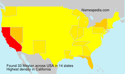 Surname Maylan in USA