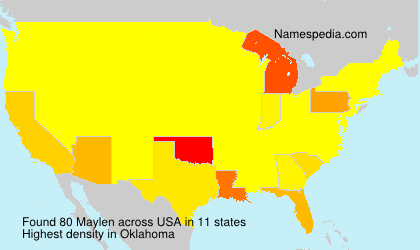 Surname Maylen in USA