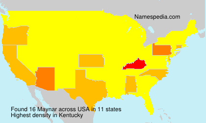 Surname Maynar in USA