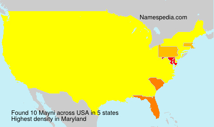 Surname Mayni in USA