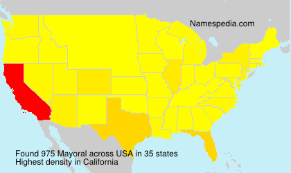 Surname Mayoral in USA
