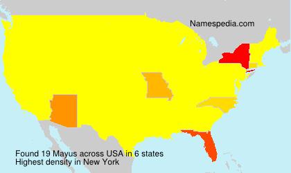 Familiennamen Mayus - USA