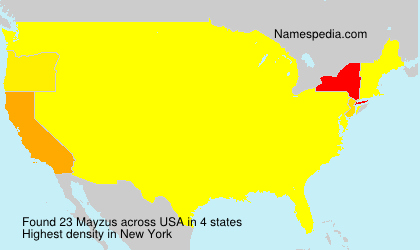 Surname Mayzus in USA
