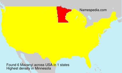 Familiennamen Mazanyi - USA