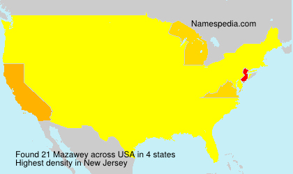 Surname Mazawey in USA