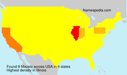 Surname Mazela in USA