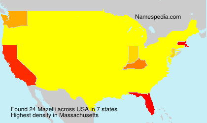 Surname Mazelli in USA