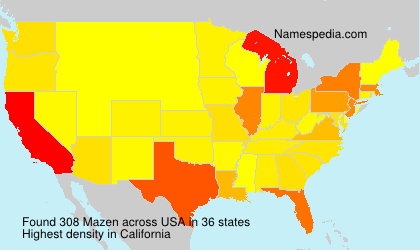 Surname Mazen in USA