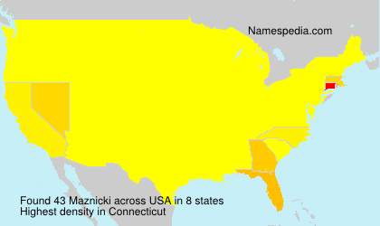 Surname Maznicki in USA