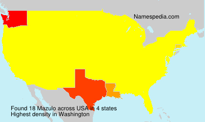 Surname Mazulo in USA